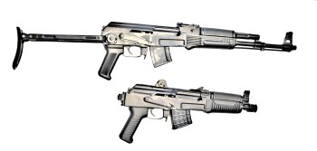 Arsenal SAM7K rifle, top, and SAM7K-44 pistol bottom