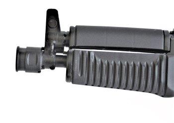 black foregrip on the SAM7K-44 pistol