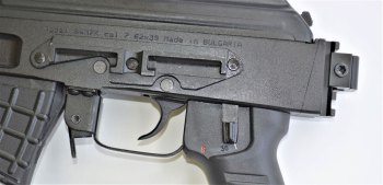 Ambidextrous safety lever on the SAM7K rifle or pistol