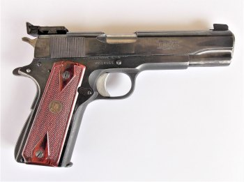Colt 1911 Bullseye gun customized by Madore, right profile