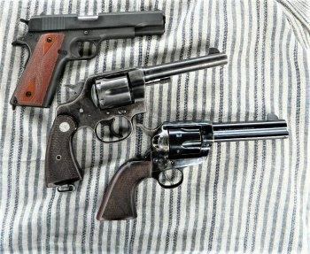 Colt 1911, Colt New Service revolver and Colt SAA revolver