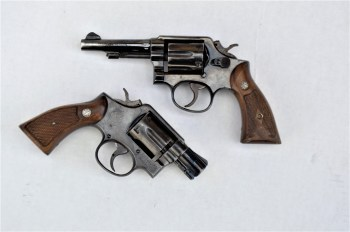 four-inch compared to a two-inch Smith and Wesson Military and Police .38 revolver