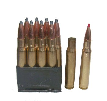 Loaded en bloc clip for the M1 Garand