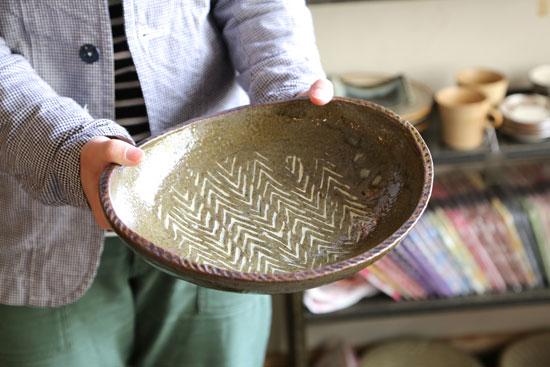 まゆみ窯 大きな楕円鉢