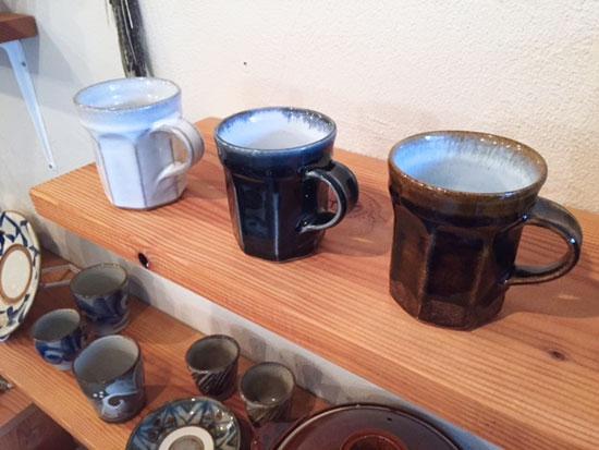 延興寺窯のマグカップ