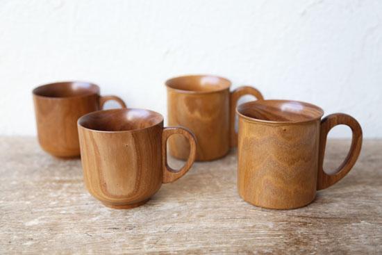 エンジュの木のマグカップ