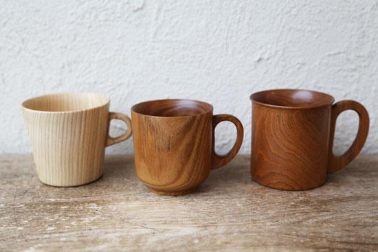 高橋工芸 木のマグカップ