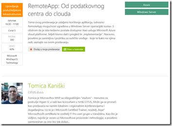 Microsoft Azure RemoteApp session