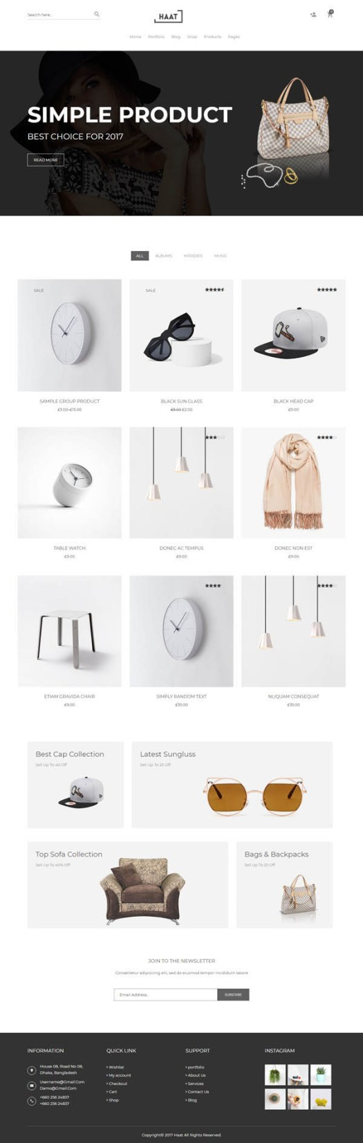 Haat – Minimalist WooCommerce WordPress Theme