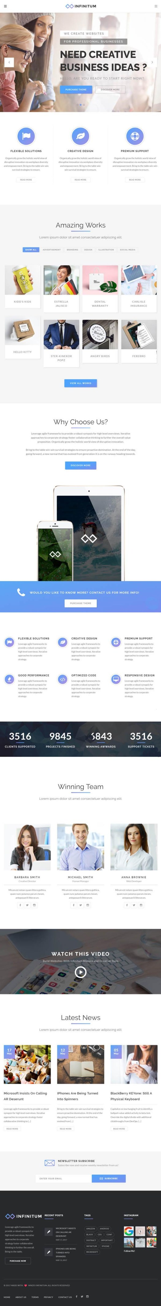 Infinitum | Responsive Multi-Purpose WordPress Theme