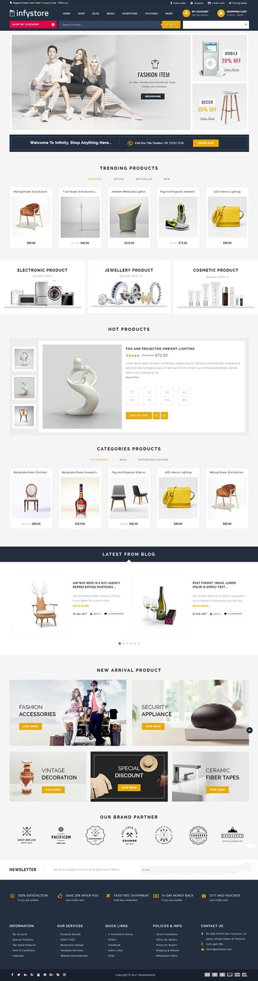 Infystore – Multipurpose WooCommerce Theme