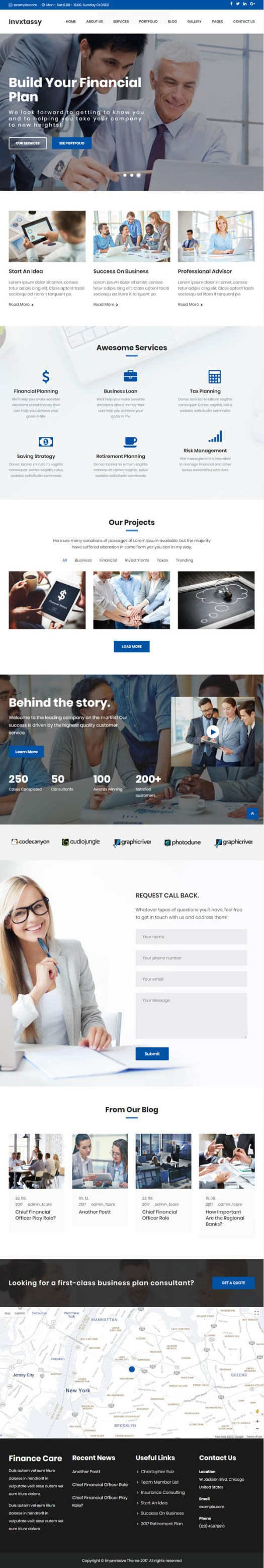 Invxtassy – Finance and Consulting WordPress Theme