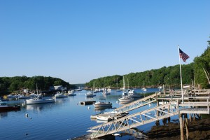 A tranquil Maine harbor in summer. Photo (c) Nathaniel Hammond