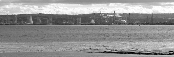 Mile 3 - View Towards Grangemouth. Sponsored by Sam and Emily Hesling and Rory Carmichael.