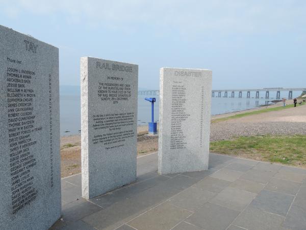 Mile 101 - Tay Bridge Disaster Memorial. Sponsored by Anna Vachon, Stephanie Kiel and Jim Hampson.