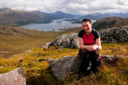 Overlooking Loch Maree, Wester Ross, September 2011