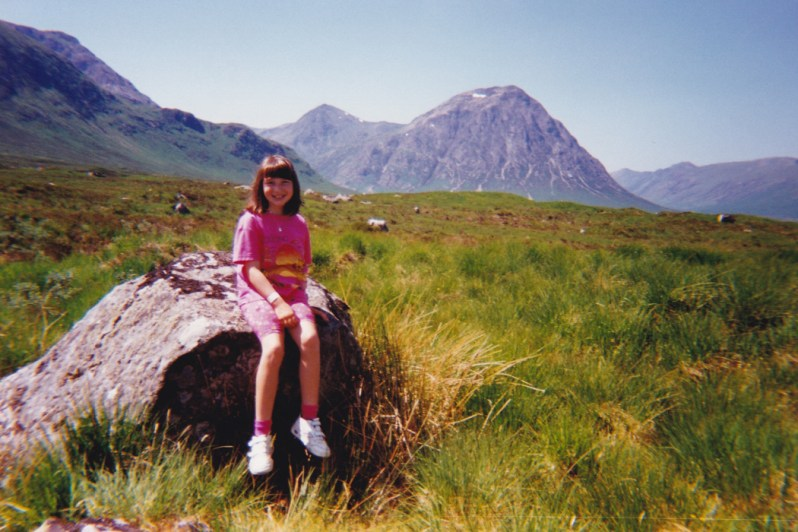 Buachaille Etive Mòr, Glen Coe, 1995 - Enjoying an unforgettable journey through the Highlands to Balmacara on the first day of the school summer holiday