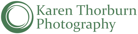 Karen Thorburn Photography logo featuring a circle and text, all in dark green