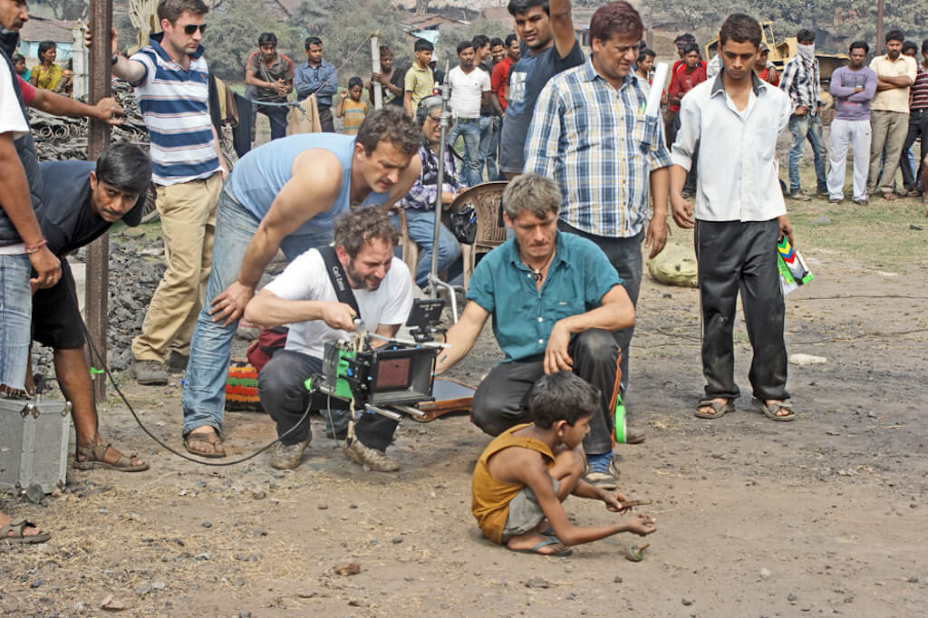 Film crew on location in India. Photo by David Alexander Elder.