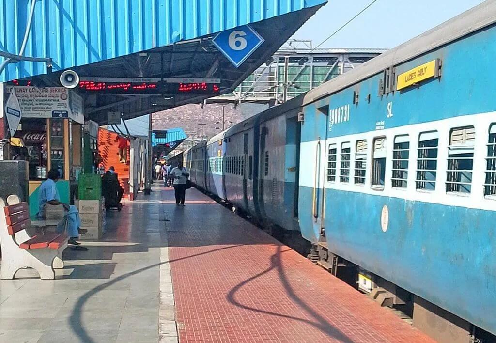 Train at Vishakhapatnam Station