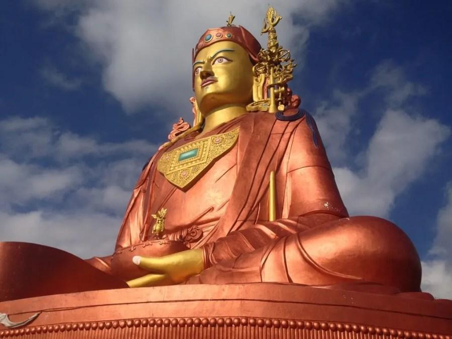 Buddha statue in Sikkim. Photo by Karl Rock.