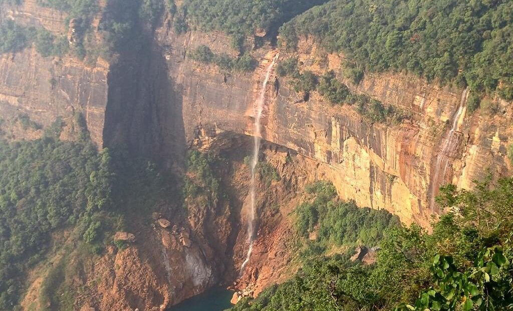 Waterfall in Meghalaya. Photo by Karl Rock.
