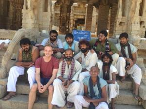 Selfie at Hampi with Kick 2 Cast. Photo © Karl Rock.