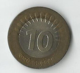 Fake 10 Rupee Coin
