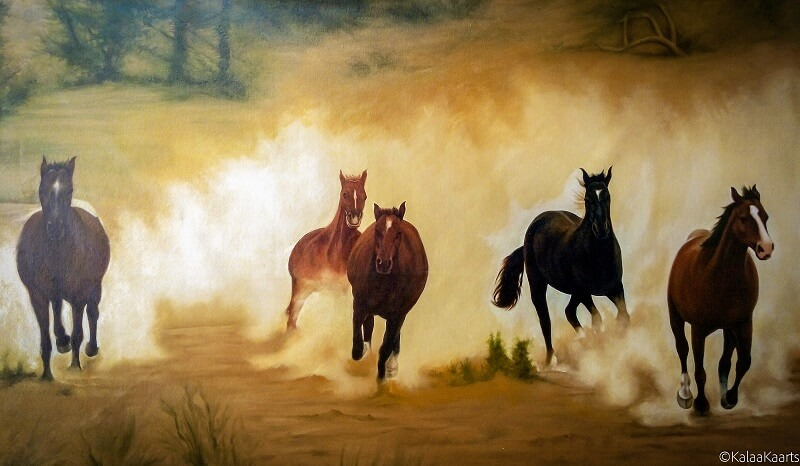 Deserted Race. Painting by: Narendra Panchal