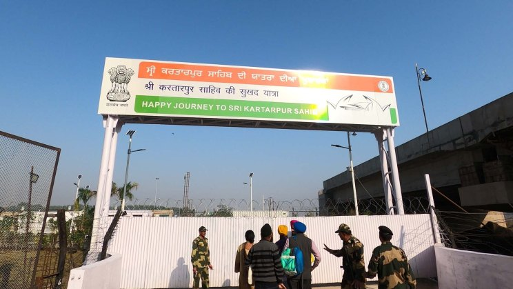 Kartarpur Corridor sign as you live India