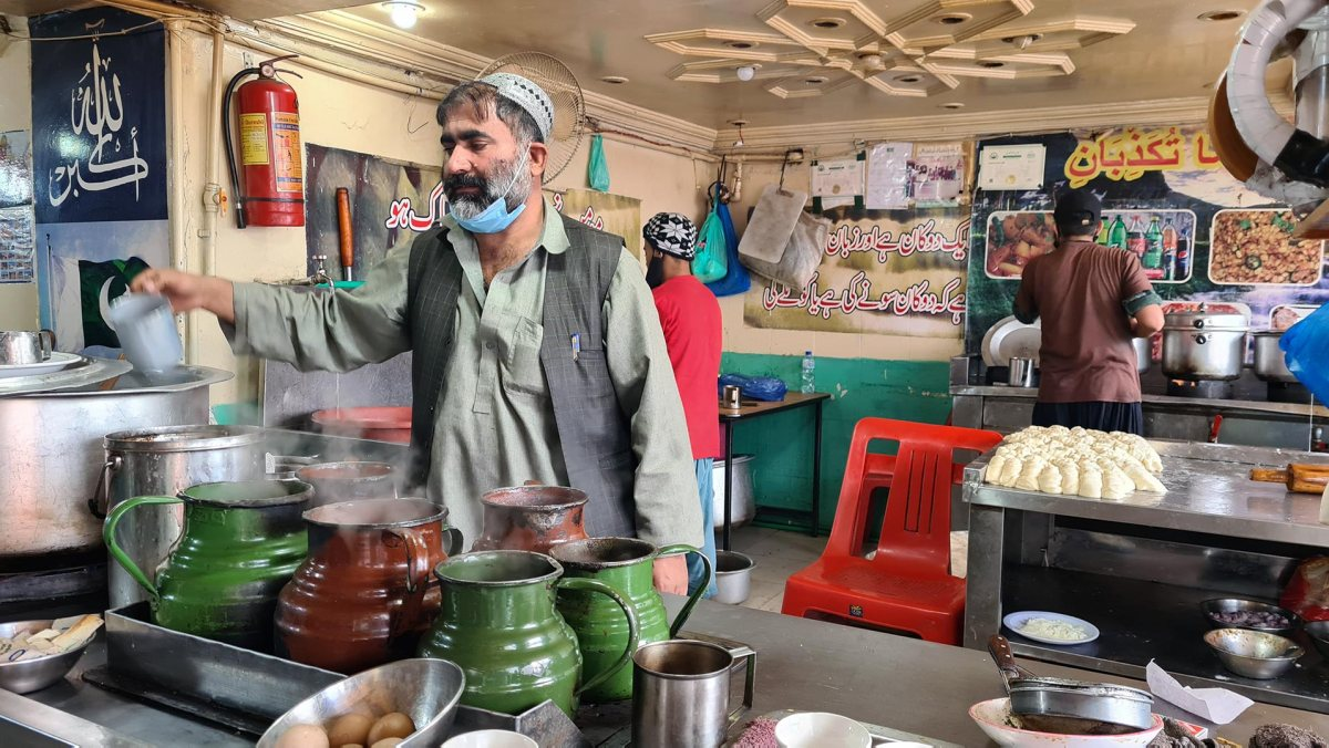 Chaiwala at Qoeta Khan Cafe Murree
