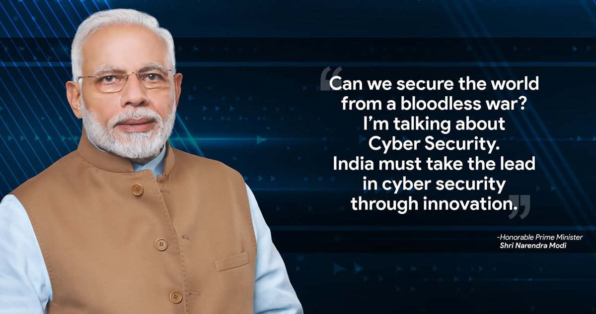 Narendra Modi talking about Cybercrime