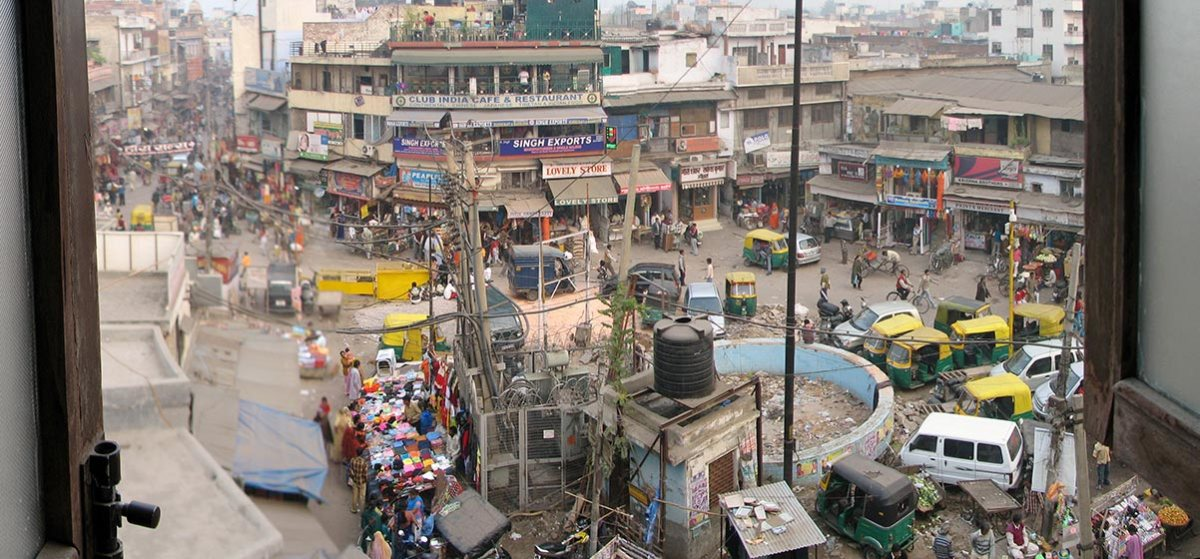 Where the majority of backpackers to Delhi stay, Paharganj. Photo by McKay Savage.