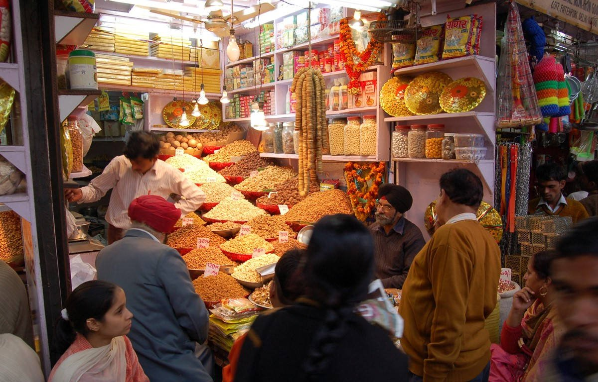 A Dry Fruits Shop At Delhi's Chandni Chowk Market