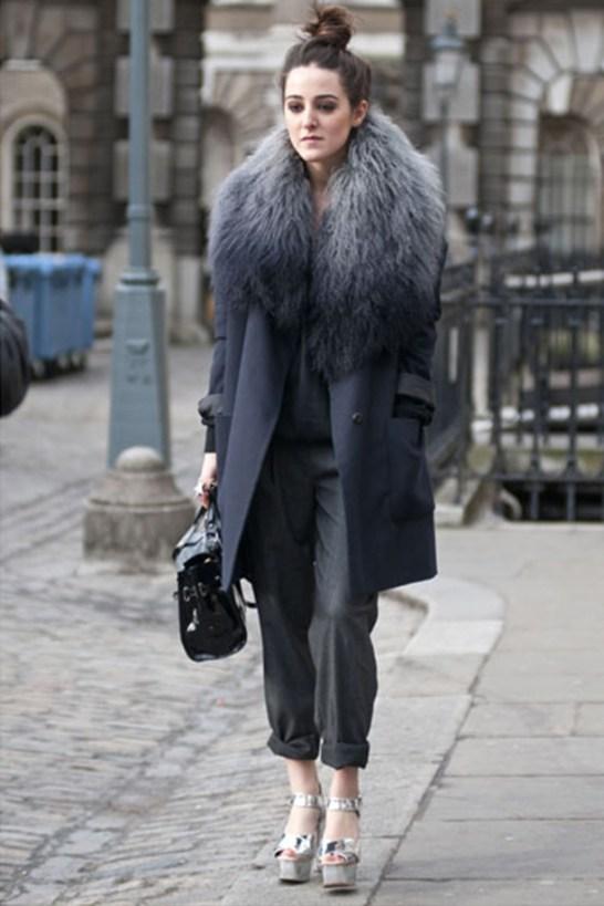 Fausse fourrure et manteau foncé - Sleepy Kate