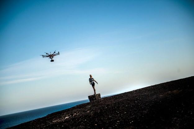 kat stephie musikvideo drone fuerteventura