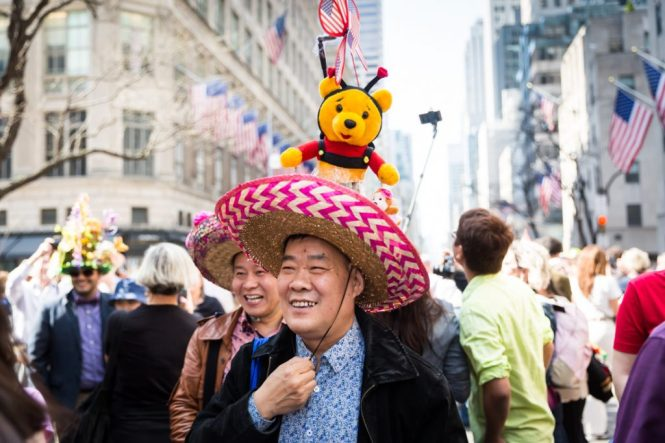 Street scenes from the 2017 NYC Easter Parade and Bonnet Festival