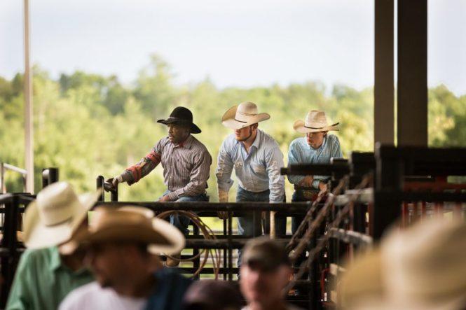 Cowboys at the Bar W Rodeo