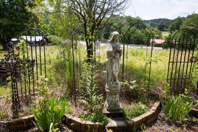 Yard art in Dillsboro, North Carolina