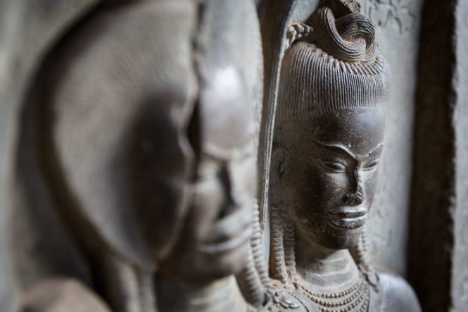 Relief sculptures for an Angkor Wat temple guide