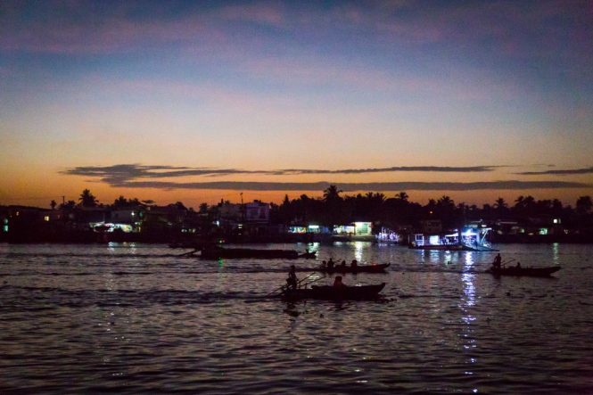 Sunrise at the Cai Rang Floating Markets