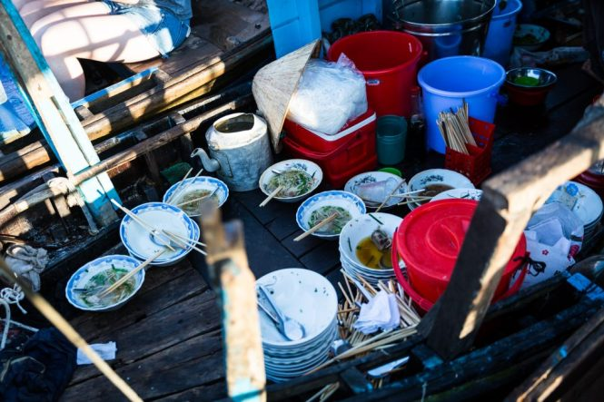Empty bowls at the Cai Rang Floating Markets
