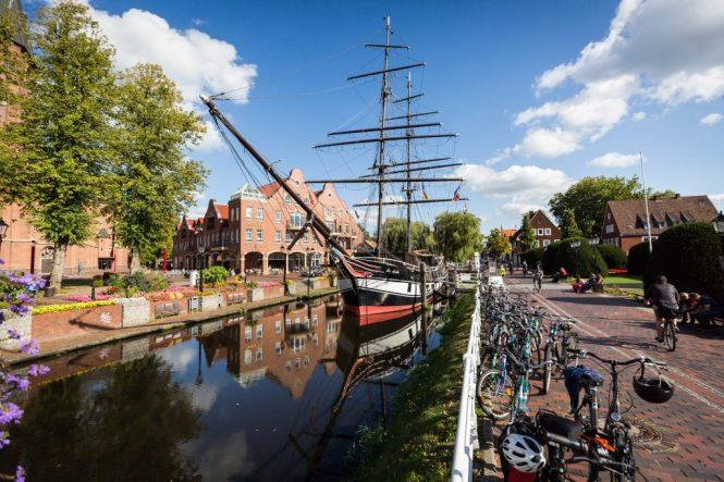 Historic ship in Papenburg, Germany