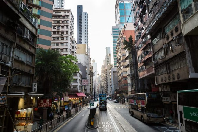 Hennessy Street for a Hong Kong street photography series called the view from the ding ding