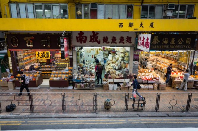 Dried fish stores for a Hong Kong street photography series called the view from the ding ding