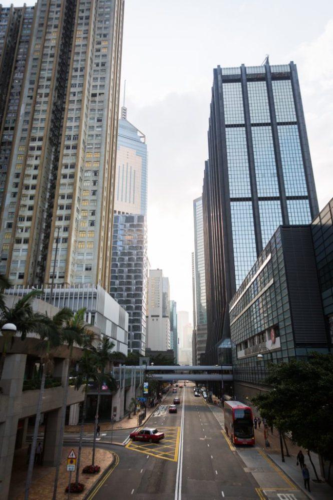 City view of Hong Kong island for a Hong Kong travel guide article