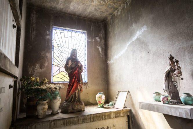 South America trip photo of a mausoleum in Santiago