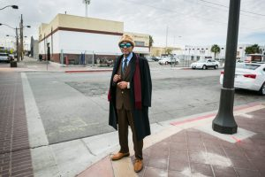 Street portrait in downtown Las Vegas