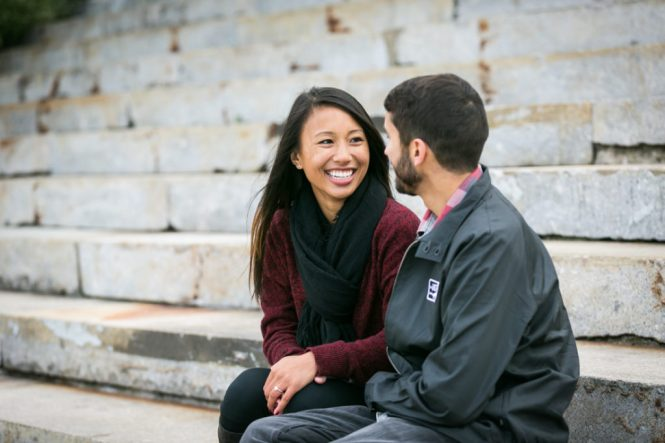 DUMBO engagement photographer, Kelly Williams, captures a couple in love