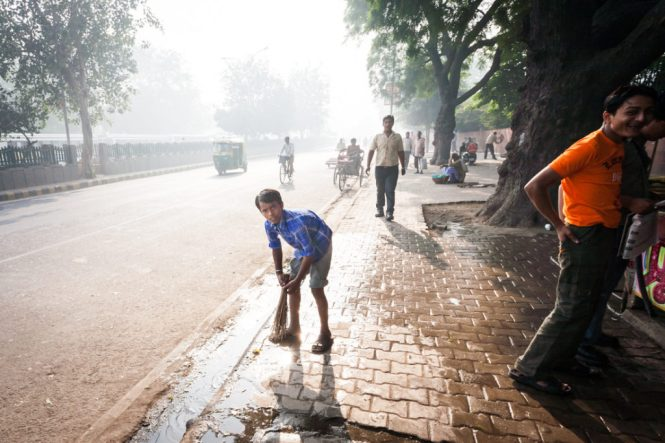 India street photography in Delhi